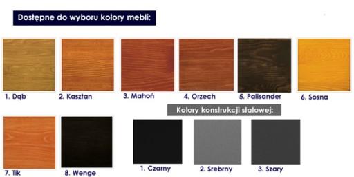 Nowoczesna Ławka Ogrodowa Drewniana 180cm Stalowa
