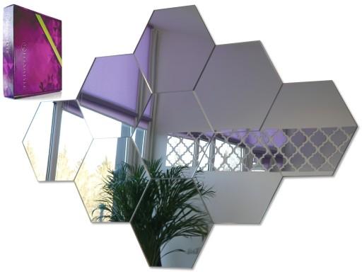Nowoczesne Lustro Dekoracyjne Akrylowe Hexagony 9x