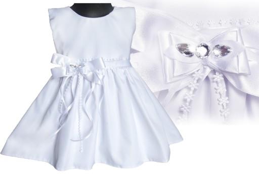 17c1ef22fd2fe0 PL Urocza sukienka dla dziewczynki Chrzest 56 7448957694 - Allegro.pl
