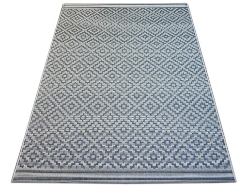 DYWAN SIZAL 120x170 ROMBY blue melanż #B342