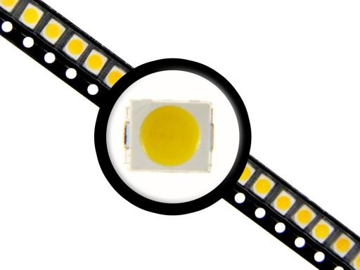 10x LED SMD 3528 PLCC-2 BIAŁA ZIMNA do LICZNIKA 7455036977