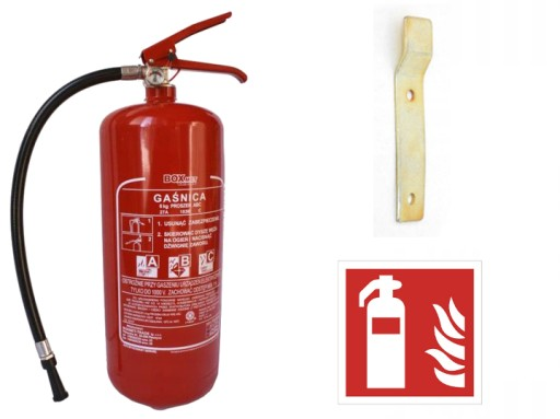 FIRE EXTINGUISHER POWDER 6KG ABC Z HOOK LT NEW