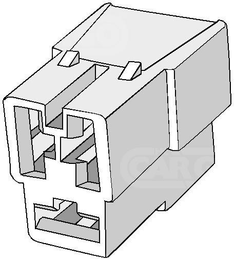 KUBAS MOTERISKA SANDURI 3-pin na SKAIDRES 6,3mm