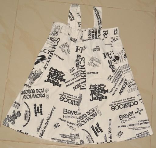 Sukienka, wzór gazeta, rozm. 104/110