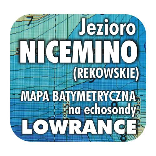 Jezioro Nicemino mapa na echosondy Lowrance