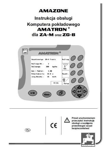 Instrukcja obsługi komputer AMATRON+ ZG-B