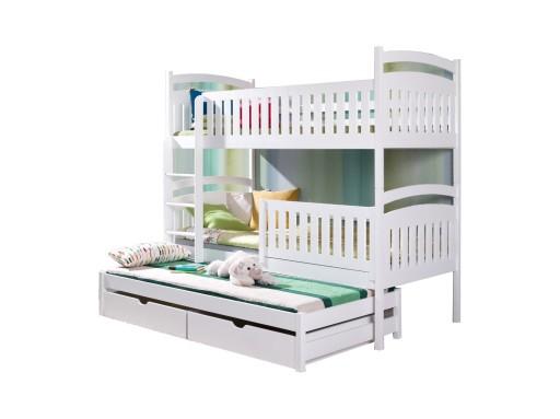 łóżko Piętrowe Dla Dzieci 3 Osobowe Zosia 90x190