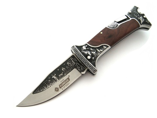 Nóż myśliwski scyzoryk Kandar Duży Grawer N0643