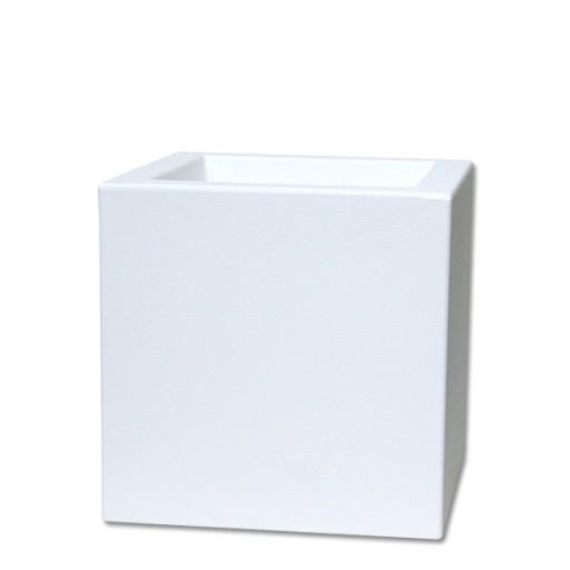 Biała Doniczka Kwadratowa Mini Kube 20x2020 Cm