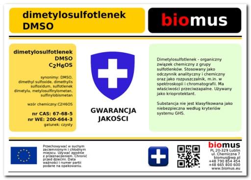 DMSO Dimetylosulfotlenek Czysty Poj. 250ml biomus