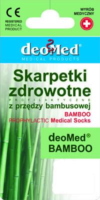 Skarpetki bezuciskowe Deo Med Bamboo 43-46 popiel
