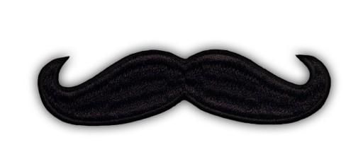Naszywka WĄSY Mustache Moustache HAFT