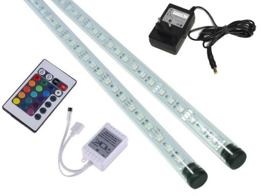 2x50cm świetlówka Led Rgb Oświetlenie Akwarium