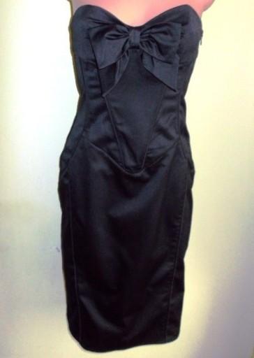 Sukienka satynowa gorsetowa Miss Selfridge ( 38 )