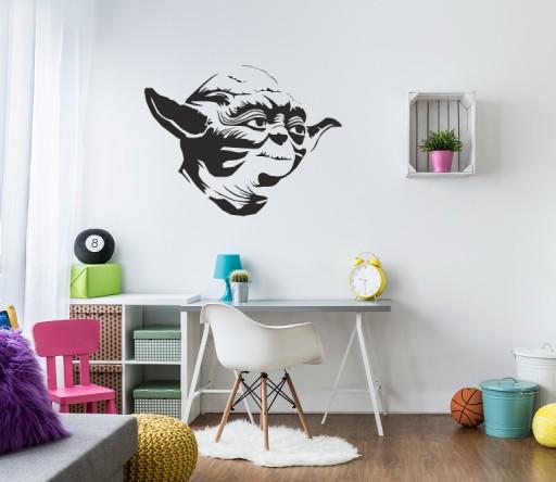 Naklejka Scienna Na Sciane Star Wars Yoda 95x72 Cm 7499346620