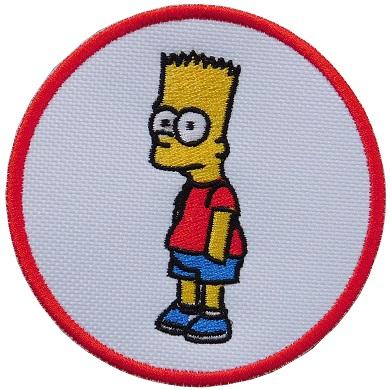 Bart Simpson Naszywka Naszywki Jedyna Haft 6946703440 Allegro Pl
