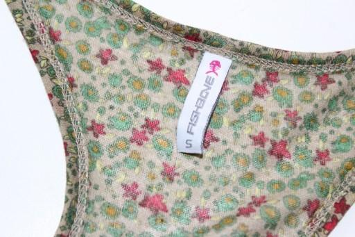 e621*FISHBONE*kwiecista bluzka elastyczna S 36