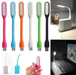NN89 LAMPKA SILIKONOWA USB DO LAPTOPA 6 LED MOCNA