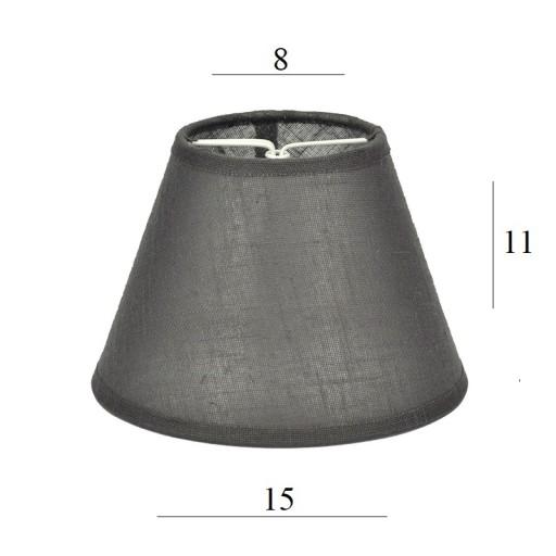 ABAŻUR lampy kinkiet żyrandol 1511h szary tkanina