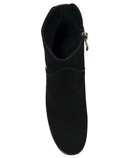 Botki Karino 40 czarne skórzane na słupku ocieplan 7698879658