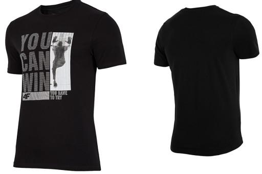 4F T-shirt męski koszulka L18 TSM017 XL bawełna 7291357689 Odzież Męska T-shirty HT VBFAHT-2