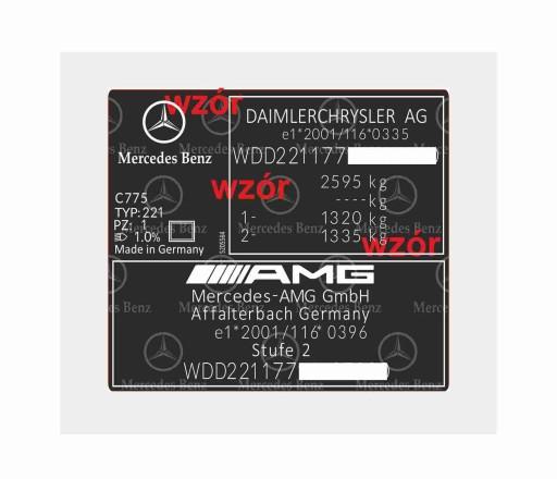 Наклейка с обозначениями, например, Subaru, Mercedes, BMW и другие.