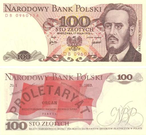 100 zł Waryński seria RR - 1986 - UNC