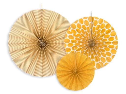 Rozety Dekoracyjne Pomarańczowe 40cm 3szt