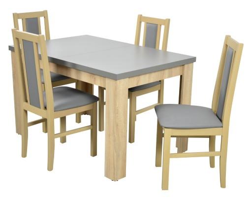 Stół 4 Krzesła Do Salonu Jadalni Sonoma 7009858029 Allegropl