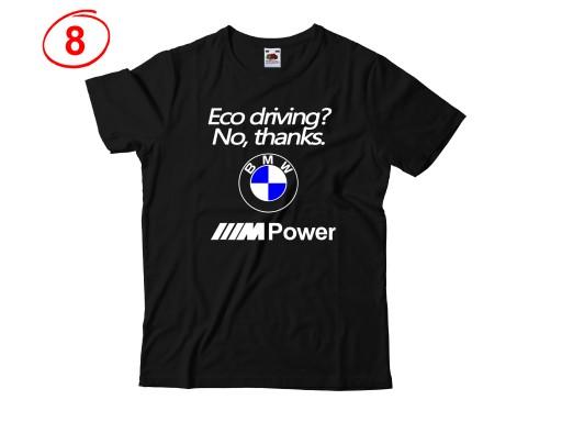 KOSZULKA MĘSKA Z NADRUKIEM BMW NA PREZENT WZORY 7475277237 Odzież Męska T-shirty PX GLDDPX-3