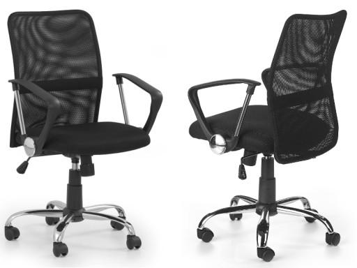 Krzesło Biurowe Młodzieżowe Tony Czarny Halmar 24h