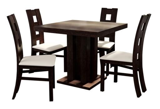 Stół Rozkładany Kwadratowy 20080x80 4 Krzesła 6883532346 Allegropl