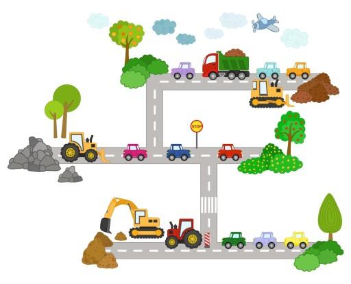 Naklejki ścienne Dla Dzieci Auta Samochody Auto 6995088835 Allegropl