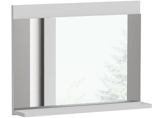 Lustro 1 Półka Do łazienki Białe Lumo L1 Biel