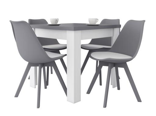 Kwadratowy Stolik 4 Krzesła