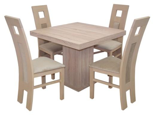 Kwadratowy Rozkładany Stół 9090225 4 Krzesła 6913549140 Allegropl