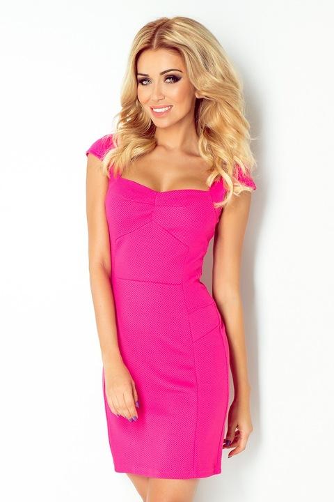 num118-3 sukienka z ładnym dekoltem WESELE 36 24h 8651253227 Odzież Damska Sukienki wieczorowe IL INPUIL-6