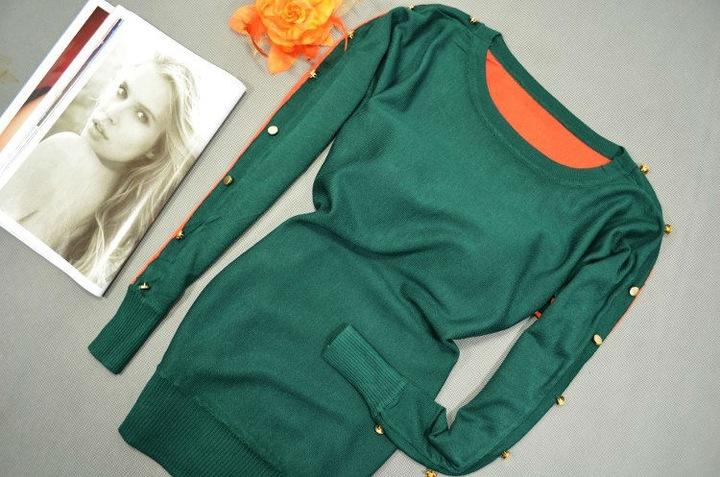 294 Sweter BLUZKA GUZIKI KOLORY 7959036214 Odzież Damska Swetry GF RAUJGF-2