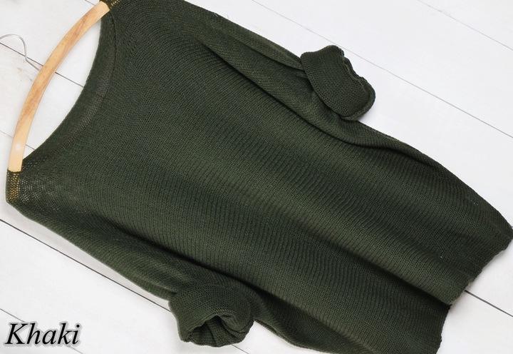 K6 LUŹNY SWETER SWETEREK bluzka OVERSIZE 6769721290 Odzież Damska Swetry TN LCWDTN-6