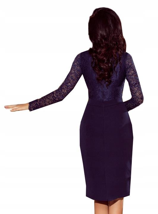 MODNA MIDI Sukienka NA WESELE, OKAZJĘ 216-1 XL 42 9485718252 Odzież Damska Sukienki wieczorowe ZU JLZCZU-8