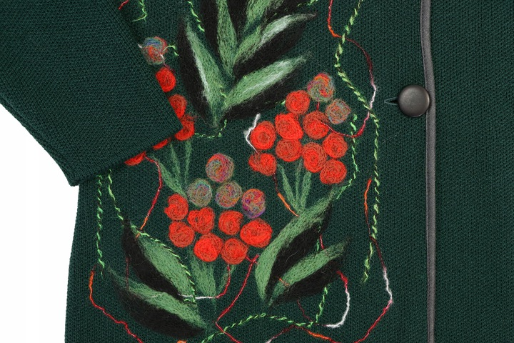 ciepły SWETER urocza aplikacja jarzębina 54 4XL 8484978422 Odzież Damska Swetry MV ZHSHMV-9